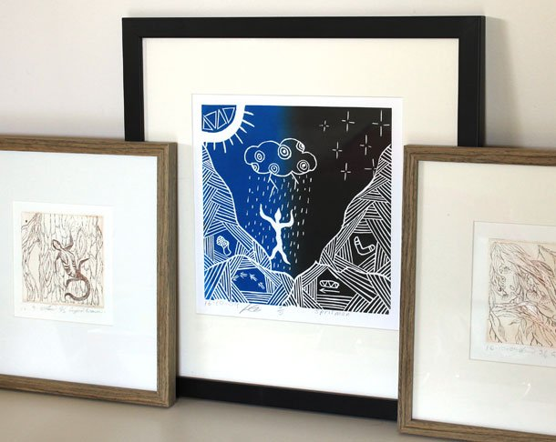Lino prints Lithographs