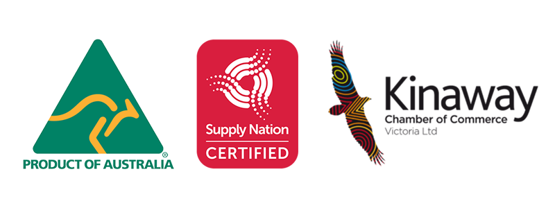 product of australia supply nation kinaway logos